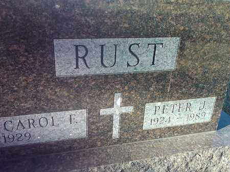 RUST, CAROL F. - Deuel County, South Dakota | CAROL F. RUST - South Dakota Gravestone Photos