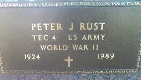 RUST, PETER J. (MILITARY) - Deuel County, South Dakota | PETER J. (MILITARY) RUST - South Dakota Gravestone Photos