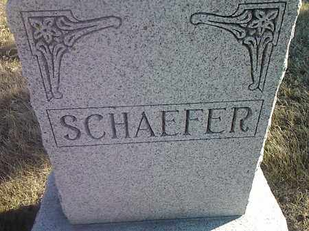 SCHAEFER, FAMILY STONE - Deuel County, South Dakota | FAMILY STONE SCHAEFER - South Dakota Gravestone Photos
