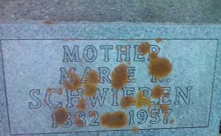 SCHWIEREN, MARIE R. - Deuel County, South Dakota | MARIE R. SCHWIEREN - South Dakota Gravestone Photos