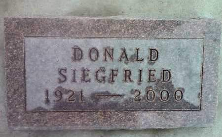 SIEGFRIED, DONALD - Deuel County, South Dakota | DONALD SIEGFRIED - South Dakota Gravestone Photos