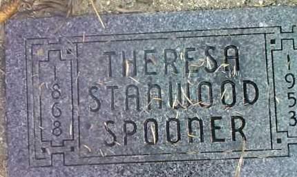STANWOOD SPOONER, THERESA - Deuel County, South Dakota   THERESA STANWOOD SPOONER - South Dakota Gravestone Photos