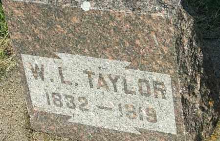 TAYLOR, W L - Deuel County, South Dakota | W L TAYLOR - South Dakota Gravestone Photos