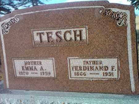 TESCH, EMMA - Deuel County, South Dakota   EMMA TESCH - South Dakota Gravestone Photos