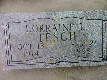 TESCH, LORRAINE L. - Deuel County, South Dakota   LORRAINE L. TESCH - South Dakota Gravestone Photos