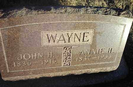 WAYNE, JOHN H. - Deuel County, South Dakota | JOHN H. WAYNE - South Dakota Gravestone Photos