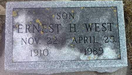 WEST, ERNEST H. - Deuel County, South Dakota | ERNEST H. WEST - South Dakota Gravestone Photos