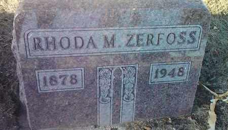 ZERFOSS, RHODA M. - Deuel County, South Dakota | RHODA M. ZERFOSS - South Dakota Gravestone Photos