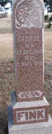 FINK, GEORGE - Douglas County, South Dakota   GEORGE FINK - South Dakota Gravestone Photos