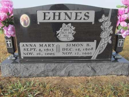 EHNES, SIMON B. - Edmunds County, South Dakota | SIMON B. EHNES - South Dakota Gravestone Photos
