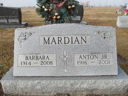MARDIAN, ANTON JR. - Edmunds County, South Dakota | ANTON JR. MARDIAN - South Dakota Gravestone Photos