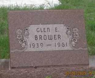 BROWER, GLEN  E. - Fall River County, South Dakota   GLEN  E. BROWER - South Dakota Gravestone Photos
