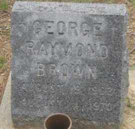 BROWN, GEORGE  RAYMOND - Fall River County, South Dakota | GEORGE  RAYMOND BROWN - South Dakota Gravestone Photos