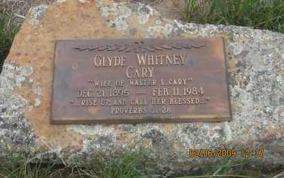 WHITNEY CARY, GLYDE - Fall River County, South Dakota | GLYDE WHITNEY CARY - South Dakota Gravestone Photos