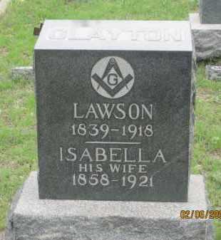 CLAYTON, ISABELLA - Fall River County, South Dakota | ISABELLA CLAYTON - South Dakota Gravestone Photos