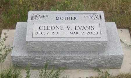 EVANS, CLEONE  V. - Fall River County, South Dakota   CLEONE  V. EVANS - South Dakota Gravestone Photos