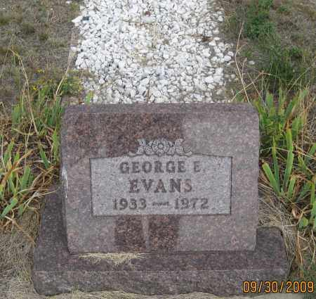 EVANS, GEORGE  E. - Fall River County, South Dakota   GEORGE  E. EVANS - South Dakota Gravestone Photos