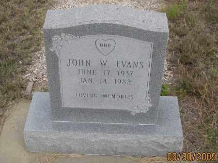 EVANS, JOHN  W. - Fall River County, South Dakota   JOHN  W. EVANS - South Dakota Gravestone Photos