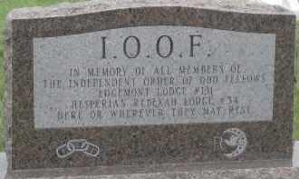 *I.O.O.F., MEMORIAL - Fall River County, South Dakota   MEMORIAL *I.O.O.F. - South Dakota Gravestone Photos