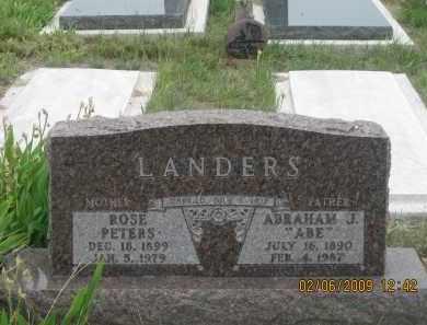 LANDERS, ROSE - Fall River County, South Dakota | ROSE LANDERS - South Dakota Gravestone Photos