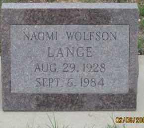 LANGE, NAOMI - Fall River County, South Dakota   NAOMI LANGE - South Dakota Gravestone Photos