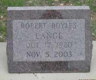 LANGE, ROBERT  BOYLES - Fall River County, South Dakota   ROBERT  BOYLES LANGE - South Dakota Gravestone Photos
