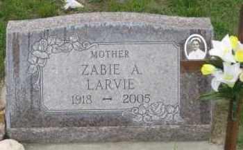 LARVIE, ZABIE  A. - Fall River County, South Dakota | ZABIE  A. LARVIE - South Dakota Gravestone Photos