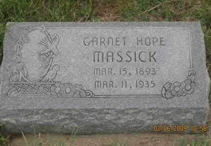 MASSICK, GARNET HOPE - Fall River County, South Dakota | GARNET HOPE MASSICK - South Dakota Gravestone Photos