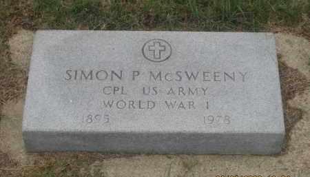 MCSWEENY, SIMON P. - Fall River County, South Dakota | SIMON P. MCSWEENY - South Dakota Gravestone Photos