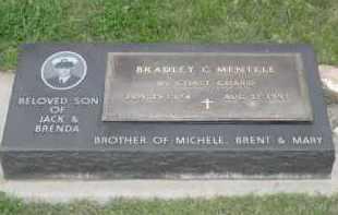 MENTELE, BRADLEY C. - Fall River County, South Dakota | BRADLEY C. MENTELE - South Dakota Gravestone Photos