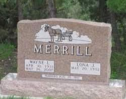 MERRILL, LONA J. - Fall River County, South Dakota | LONA J. MERRILL - South Dakota Gravestone Photos