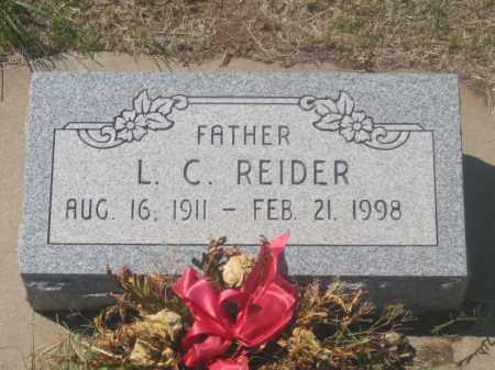 REIDER, L. C. - Fall River County, South Dakota | L. C. REIDER - South Dakota Gravestone Photos