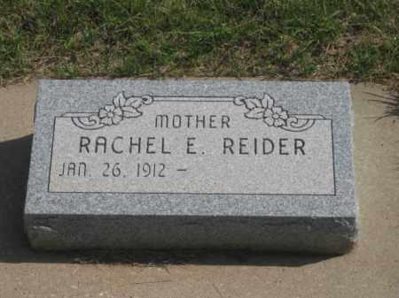 REIDER, RACHEL  E. - Fall River County, South Dakota   RACHEL  E. REIDER - South Dakota Gravestone Photos