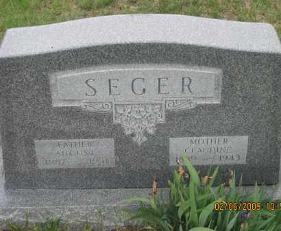 SEGER, CLAUDINE - Fall River County, South Dakota | CLAUDINE SEGER - South Dakota Gravestone Photos