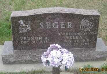 SEGER, HELEN L. - Fall River County, South Dakota | HELEN L. SEGER - South Dakota Gravestone Photos
