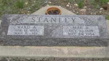 STANLEY, WARD  A. - Fall River County, South Dakota | WARD  A. STANLEY - South Dakota Gravestone Photos