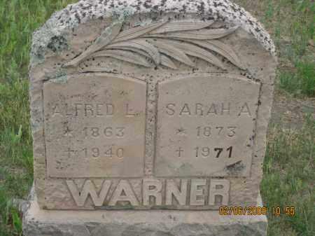 WARNER, ALFRED L. - Fall River County, South Dakota | ALFRED L. WARNER - South Dakota Gravestone Photos