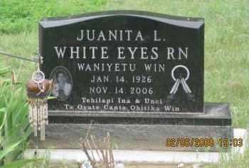 WHITE EYES, JUANITA  L. - Fall River County, South Dakota | JUANITA  L. WHITE EYES - South Dakota Gravestone Photos