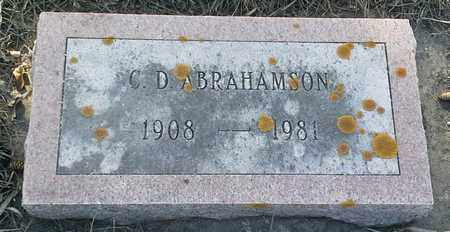 ABRAHAMSON, C D - Grant County, South Dakota | C D ABRAHAMSON - South Dakota Gravestone Photos