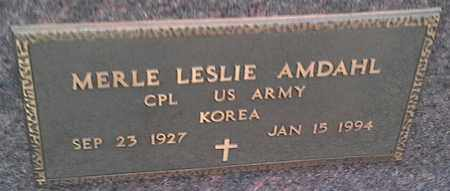 "AMDAHL, MERLE LESLIE ""MILITARY"" - Grant County, South Dakota | MERLE LESLIE ""MILITARY"" AMDAHL - South Dakota Gravestone Photos"
