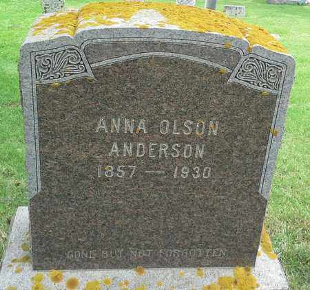 OLSON ANDERSON, ANNA - Grant County, South Dakota | ANNA OLSON ANDERSON - South Dakota Gravestone Photos