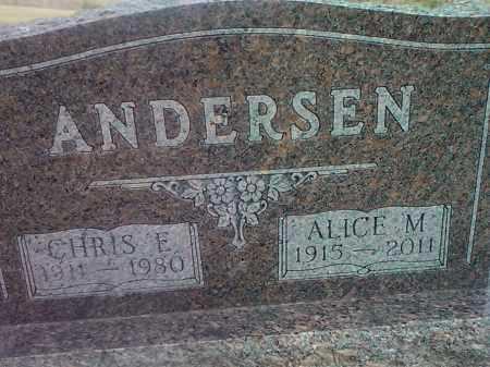 ANDERSON, CHRIS E. - Grant County, South Dakota | CHRIS E. ANDERSON - South Dakota Gravestone Photos