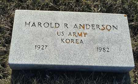 """ANDERSON, HAROLD R """"MILITARY"""" - Grant County, South Dakota   HAROLD R """"MILITARY"""" ANDERSON - South Dakota Gravestone Photos"""
