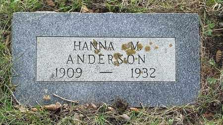 ANDERSON, HANNA M - Grant County, South Dakota   HANNA M ANDERSON - South Dakota Gravestone Photos