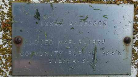 ANDERSON, ISSAC - Grant County, South Dakota | ISSAC ANDERSON - South Dakota Gravestone Photos