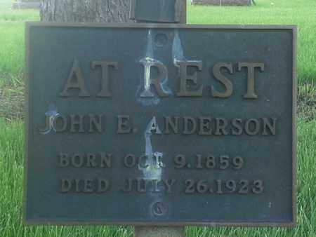 ANDERSON, JOHN E - Grant County, South Dakota | JOHN E ANDERSON - South Dakota Gravestone Photos