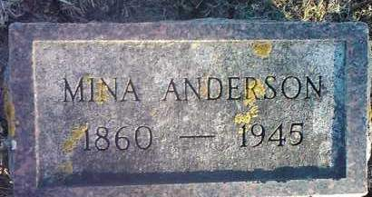 ANDERSON, MINA - Grant County, South Dakota | MINA ANDERSON - South Dakota Gravestone Photos