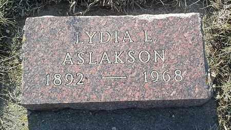 ASLAKSON, LYDIA L - Grant County, South Dakota | LYDIA L ASLAKSON - South Dakota Gravestone Photos