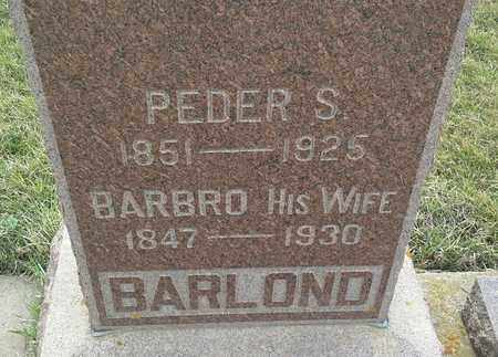 BARLOND, BARBRO - Grant County, South Dakota   BARBRO BARLOND - South Dakota Gravestone Photos