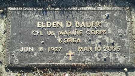 BAUER, ELDEN D - Grant County, South Dakota | ELDEN D BAUER - South Dakota Gravestone Photos